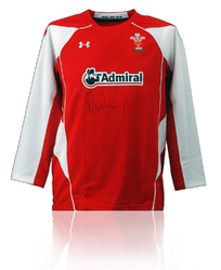 Wales Rugby Shirt Hand Signed by Shane Williams
