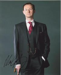 Mark Gatiss AUTOGRAPH Sherlock SIGNED IN PERSON 10x8 photo