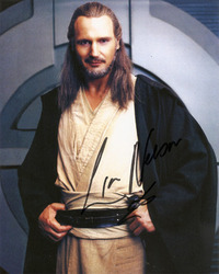 Liam Neeson signed 10x8 photo.