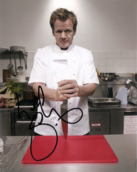 Gordan Ramsay signed 10x8 photo.
