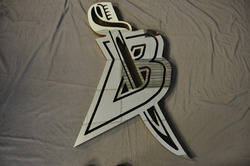 "Buffalo Sabres ""B/with Sword"" Team Locker Room Door Logo"