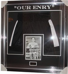Sir Henry Cooper Signed Shorts Presentation