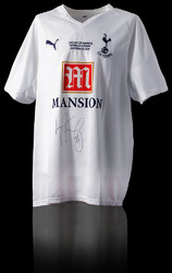 Ledley king hand signed Spurs Shirt