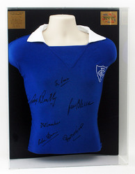 Chelsea 1955 League Champions Toffs Replica shirt hand signed by 6