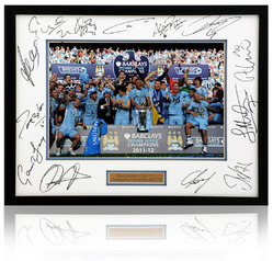 Manchester City hand signed 2012 Champions presentation