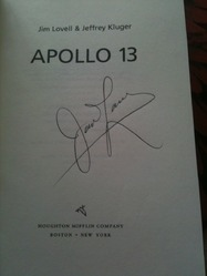 Apollo 13 signed book Jim Lovell
