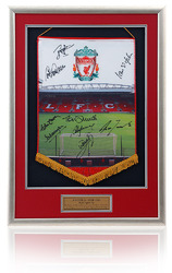 Anfield Pennent hand signed by 9 Liverpool legends