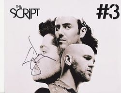 Danny O'Donoghue AUTOGRAPH The Script SIGNED IN PERSON 10x8 photo