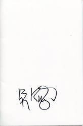 Ben Kingsley Autograph Comic Book Cover signed in person