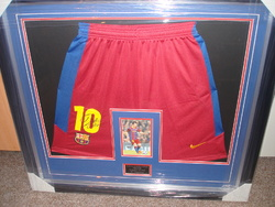 Lionel Messi signed shorts