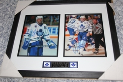 Doug Gilmour and Wendel Clark