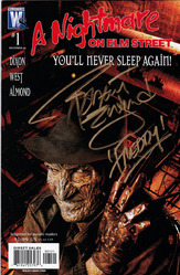Wild Storm Comics, A Nightmare on Elm Street #1, Variant Cover comic signed by Robert Englund