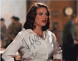 Hayley Atwell Autograph Captain America signed in person 10x8 photo