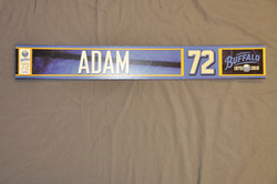 Luke Adam Buffalo Sabres Locker Room Nameplate 2010-11 Season