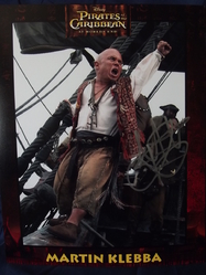 Klebba, Martin - authentic autograph - UACC Reg. Dealer #251 - 'Marty' in the 'Pirates of The Caribbean'