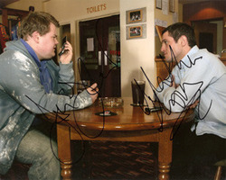Mathew Horne & James Corden signed 10x8 picture