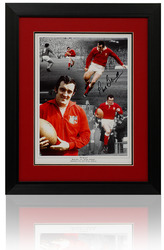 Phil Bennett large hand signed montage