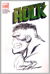 The Incredible Hulk #1, Dec 2011, signed and sketched by Neal Adams