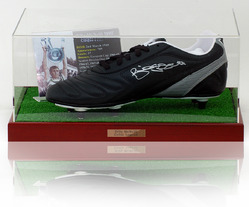 BILLY McNEILL Hand Signed Football Boot.