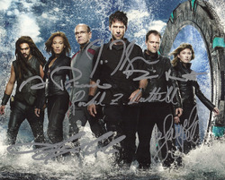8x10 Stargate Atlantis, cast signed photograph