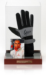 LEWIS HAMILTON Hand Signed Drivers Glove