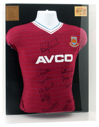 West Ham 1986 Final Shirt hand signed by 12 Squad members