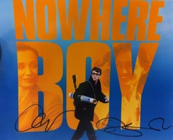 Aaron Johnson & Sam Taylor Wood Autograph Nowhere Boy Signed In Person 10x8 Photo