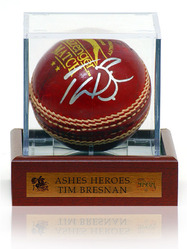 Tim Bresnan HAND SIGNED Cricket Ball in Display