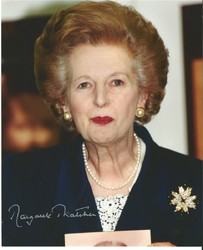 Margaret Thatcher signed 10x8 photo