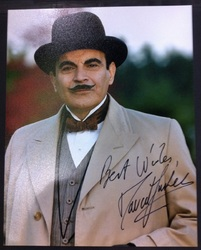 David Suchet as Poirot Signed 10x8 Photo