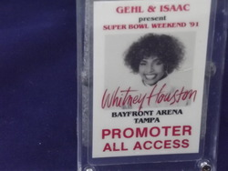 Whitney Houston Promoter All Access Pass