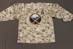 Drew Stafford Buffalo Sabres Special Edition Camouflage Jersey Worn on Veteran's Day during Pre-Game Skate on 11/11/11 Size 54