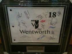 Wentworth Golf Flag Signed