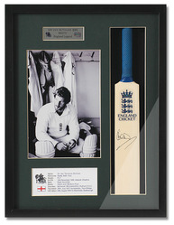 Ian Botham 'Beefy' Hand Signed Mini England Cricket Bat