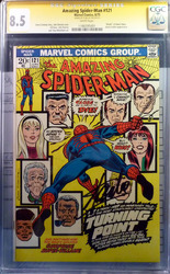 Marvel, The Amazing Spider-man #121 comic book signed by Stan Lee