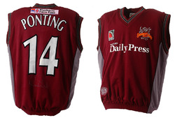 Ricky Ponting Match Worn & Signed Somerset Sweater