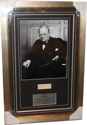 Winston Churchill Signed Presentation