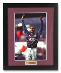 Stan Collymore Hand Signed Aston Villa photograph