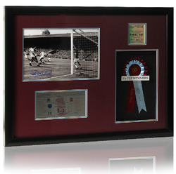 Aston Villa 1957 FA Cup Final Presentation hand signed by Peter McParland