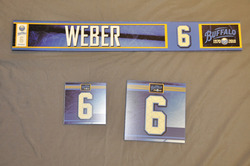 Mike Weber Buffalo Sabres Locker Room Nameplate, Stick Plate, Dry Stall Plate 2010-11 Season