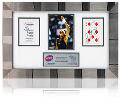 Venus Williams Hand Signed Tennis charity GOSH playing card presentation