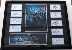 Avengers Index Card Presentation Signed By x9