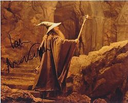 Ian McKellen AUTOGRAPH Lord Of The Rings SIGNED IN PERSON 10x8 photo