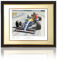 Hand signed by Nigel Mansell