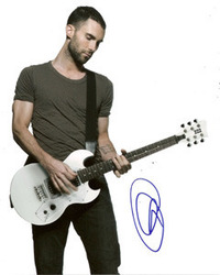 Adam Levine signed 10x8 photo.