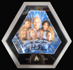 Willitts Designs/ Paramount Pictures Special Commemorative Edition Porcelain Plaque signed by Patrick Stewart