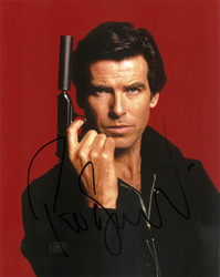 Pierce Brosnan signed 10x8 photo.