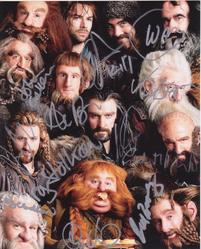 The Hobbit Multi-signed by x12 Autographed 10x8 photo Signed in person
