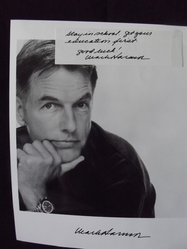 Harmon, Mark - NCIS - Chicago Hope - St. Elsewhere  - Original autograph - UACC Reg.Dealer #251