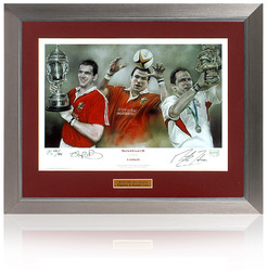 Martin Johnson hand signed England Rugby World Cup 2003 presentation